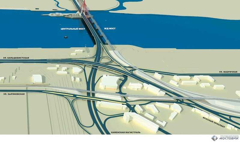 Схемы развязок четвертого моста