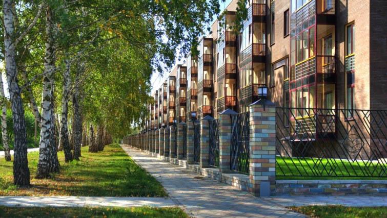 п. Краснообск, 7-й микрорайон, жилой комплекс «Бавария» (3 очередь)