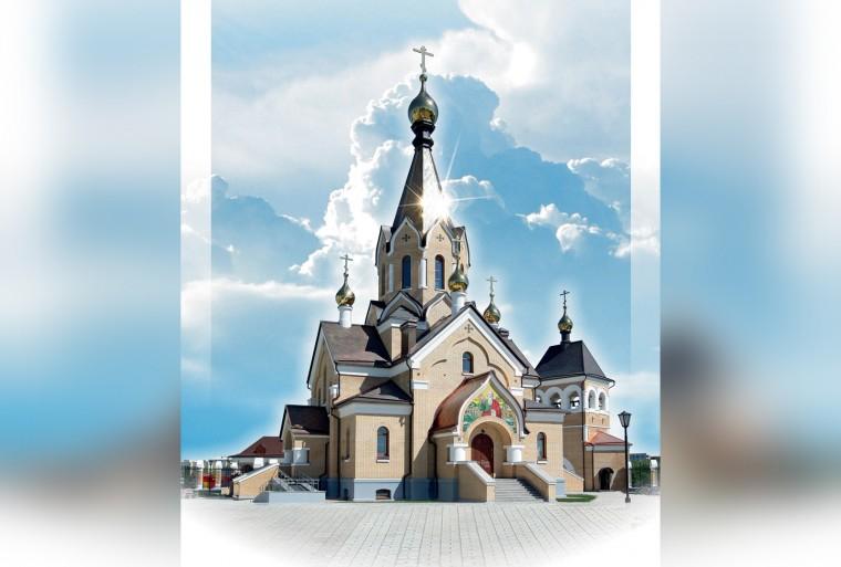 В Новосибирске освящен храм Андрея Первозванного