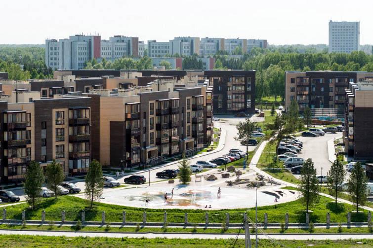 п. Краснообск, 7-й микрорайон, жилой комплекс «Бавария» (5 очередь)