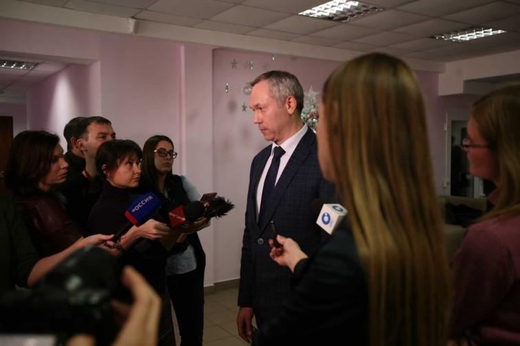 Врио губернатора Новосибирской области Андрей Травников и мэр Новосибирска Анатолий Локоть побывали в «Стрижах»