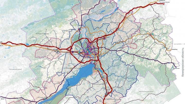 Транспортный каркас Новосибирской агломерации