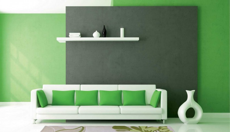 Зеленый в интерьере