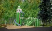Детская площадка в Центральном парке