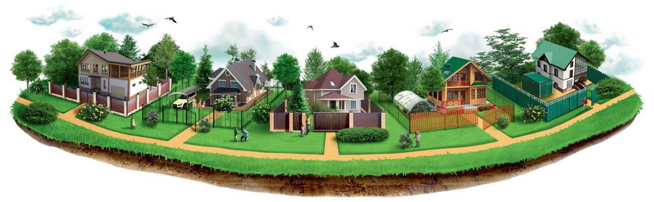 земельные участки в составе рекреационных зон