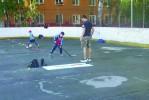 Хоккейные коробки во дворе