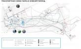 Заельцовский парк: Транспортная схема парка в зимний период