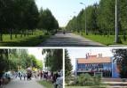 Аллея в честь 110-летия Новосибирска, городок аттракционов «Затулинский», кинотеатр «Рассвет»