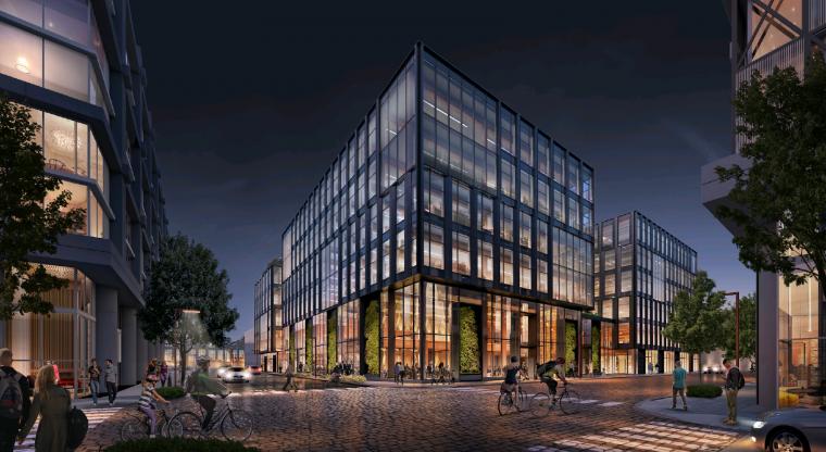 6-этажный бизнес-центр из массива древесины