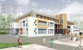 Типовой детский сад, вариант фасада