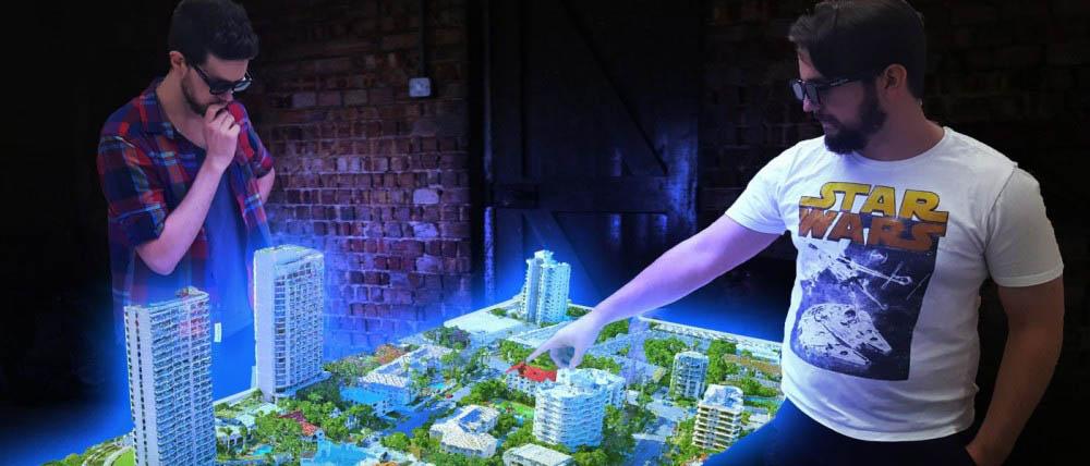 В Австралии изобрели голографический стол для работы с моделями городов