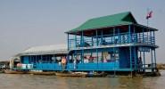 Плавучая школа в Камбодже